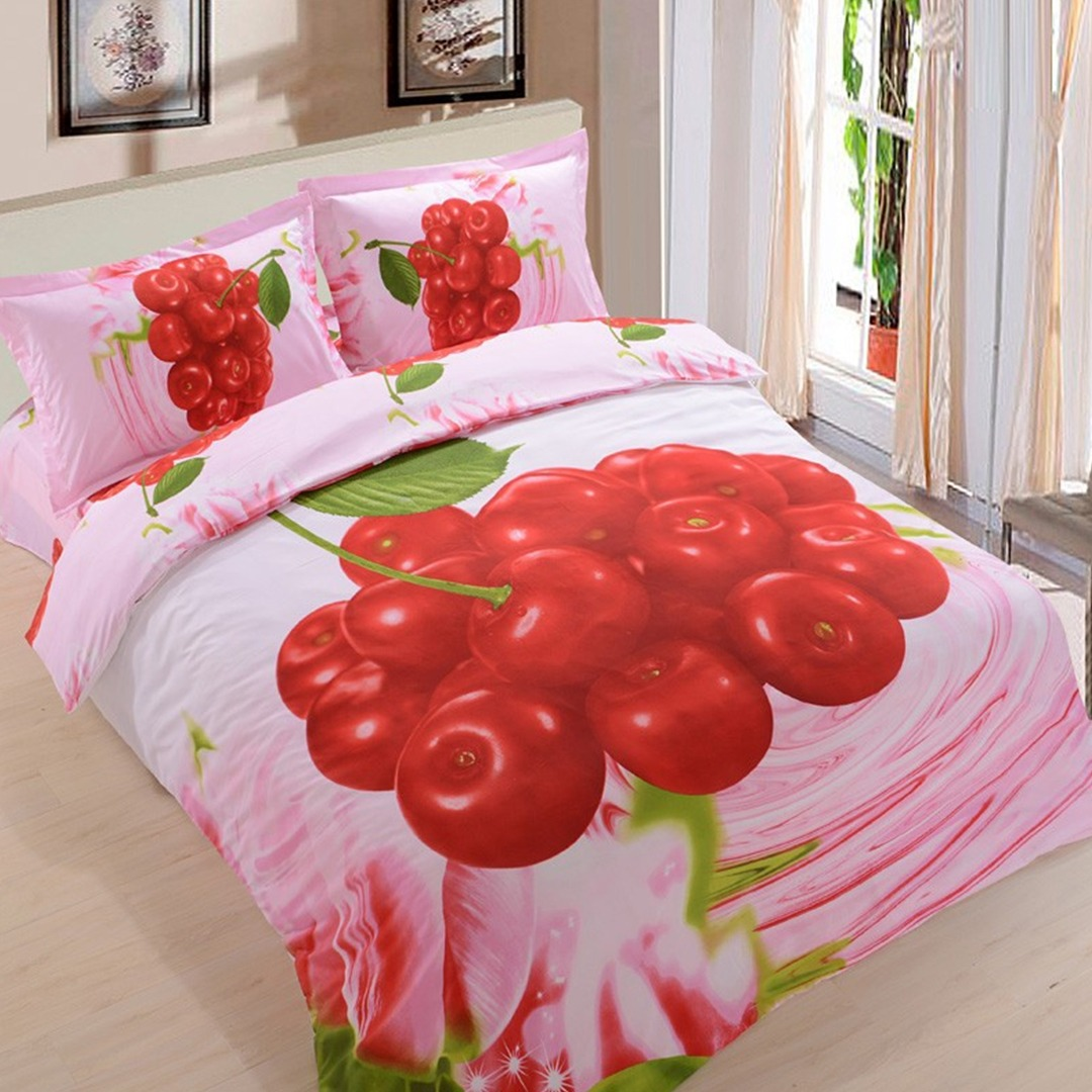 3d Cherry Bedding set