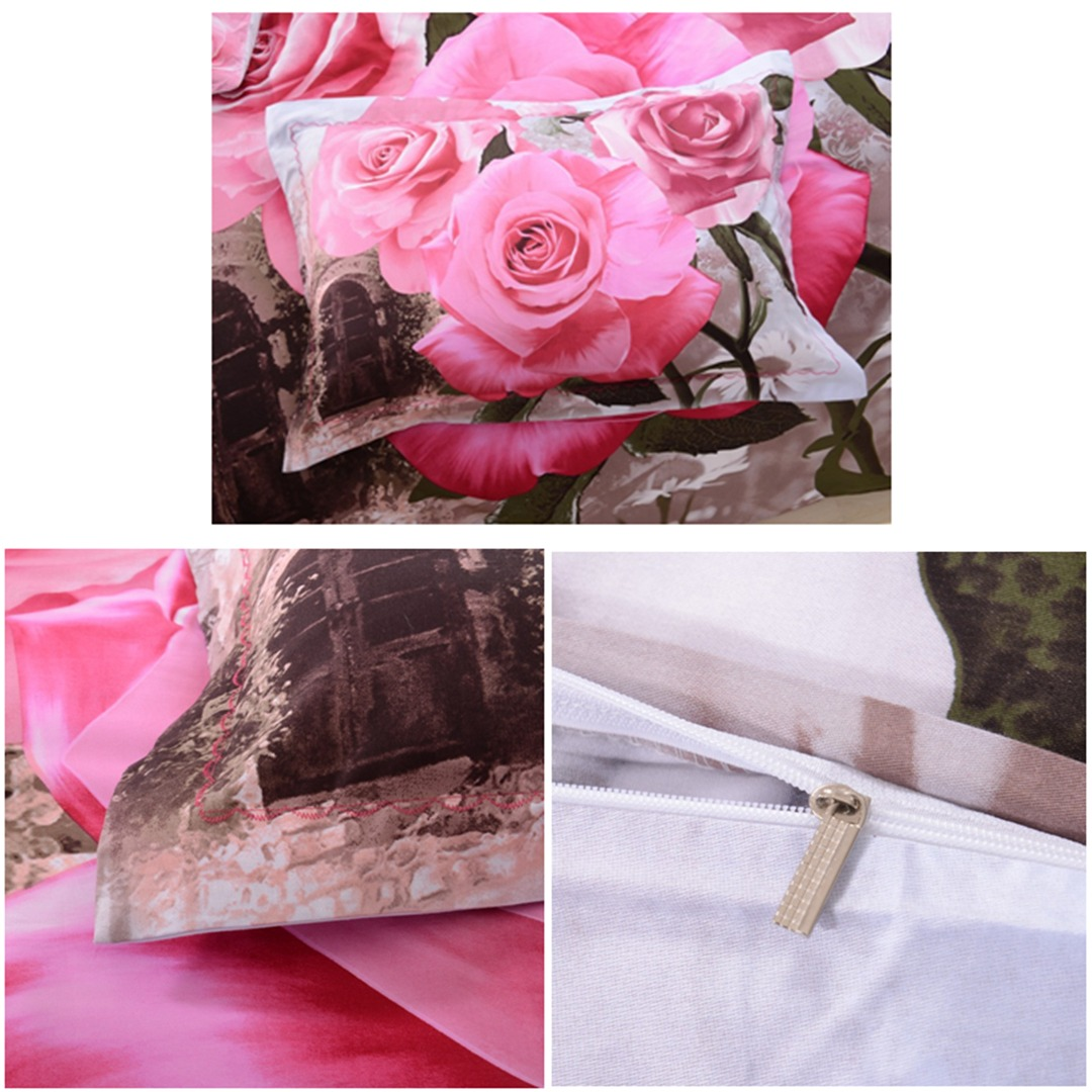 3d Pink Rose Bedding Set Ebeddingsets