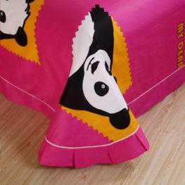 panda bear bedding flat sheet