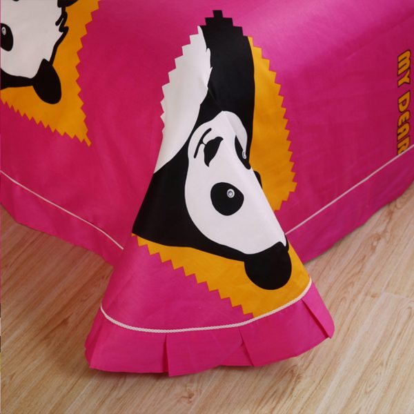 panda bear bedding flat sheet