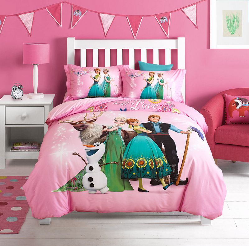 Disney Frozen Bedding Set 100 Cotton 5pcs, Elsa Bedding Set Queen