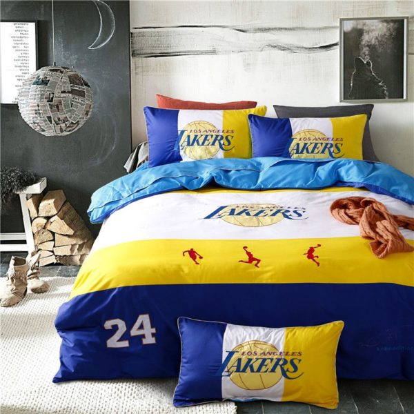 Los Angeles Lakers Basketball Bedding Set (1)