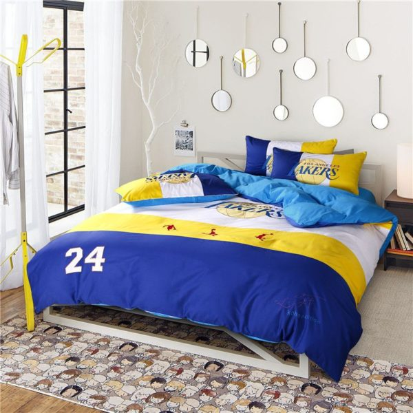 Los Angeles Lakers Basketball Bedding Set 2