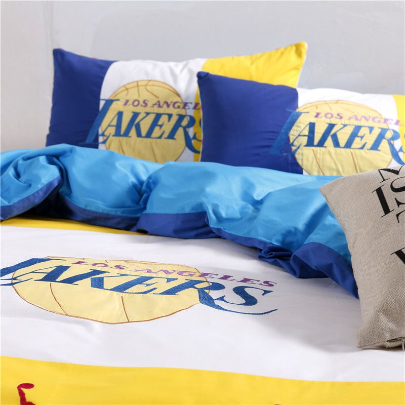 Los Angeles Lakers Basketball Bedding Set Ebeddingsets