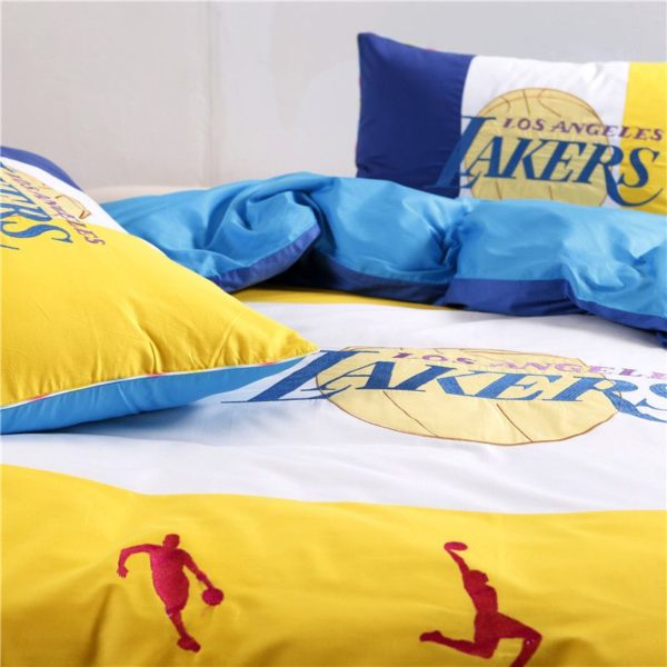 Los Angeles Lakers Basketball Bedding Set 5