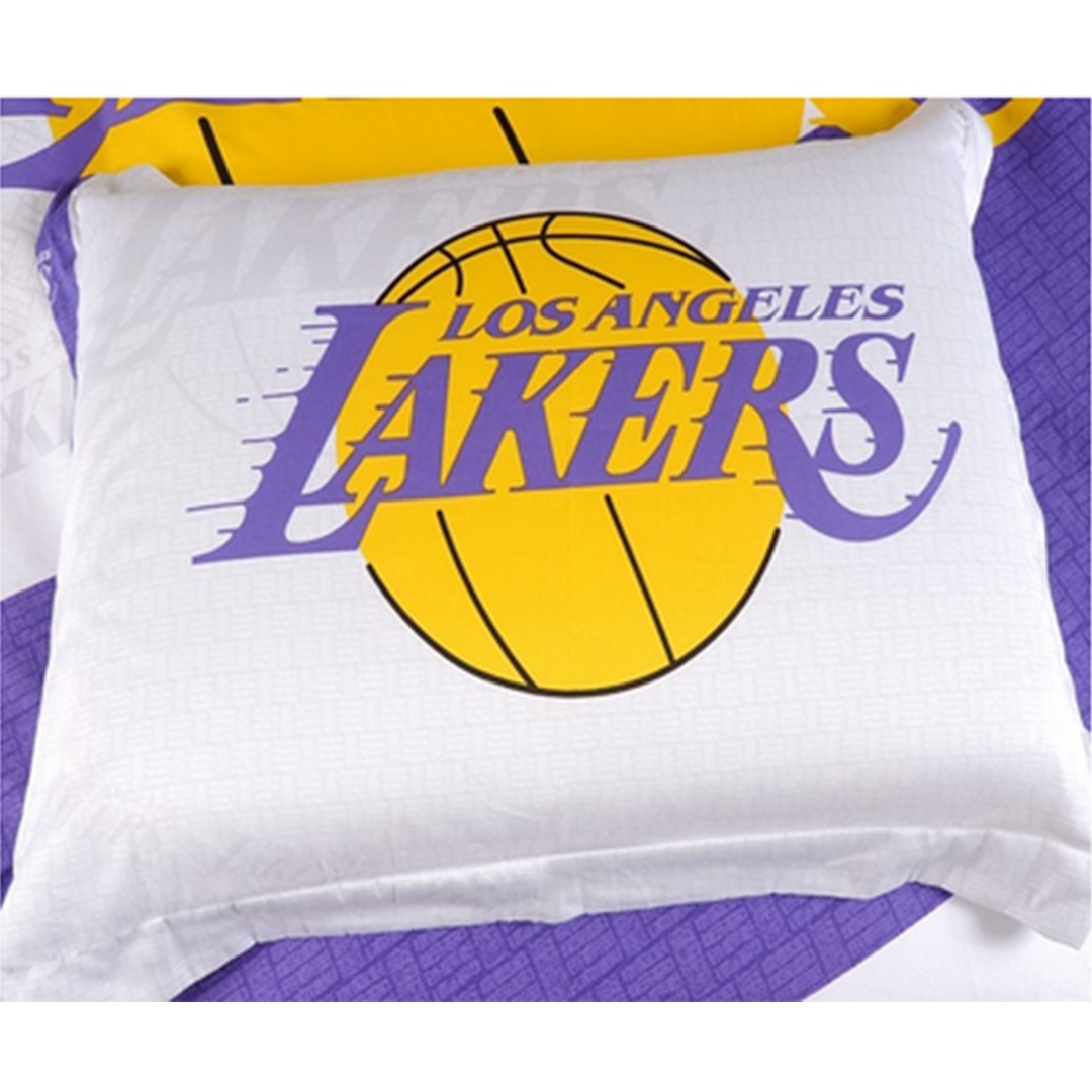 Lakers Bedroom Set Los Angeles Lakers NBA Twin Comforter And – Lakers Bedroom