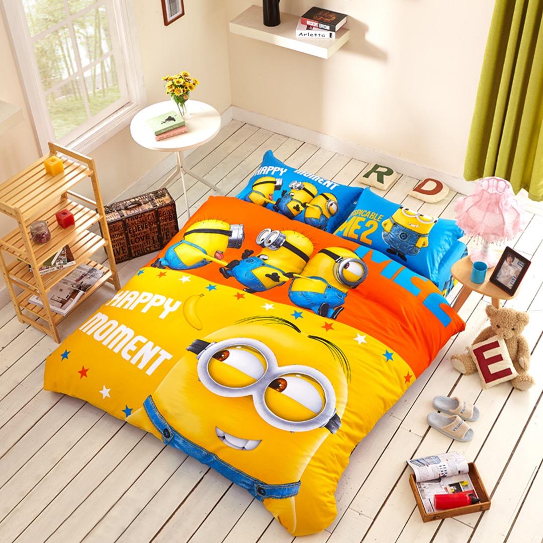 Minion bedding set with comforter. Fabulous White And Turquoise Cotton Bedding Set