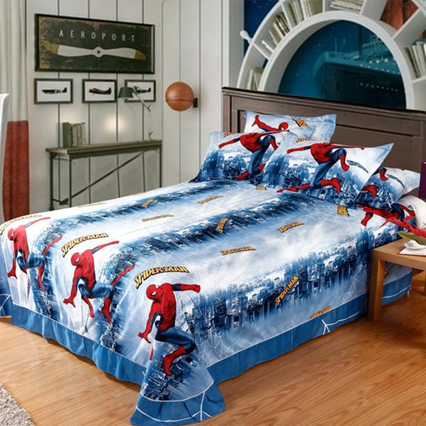 Spiderman bed sheet 600x600 - Spiderman bedding set Queen size