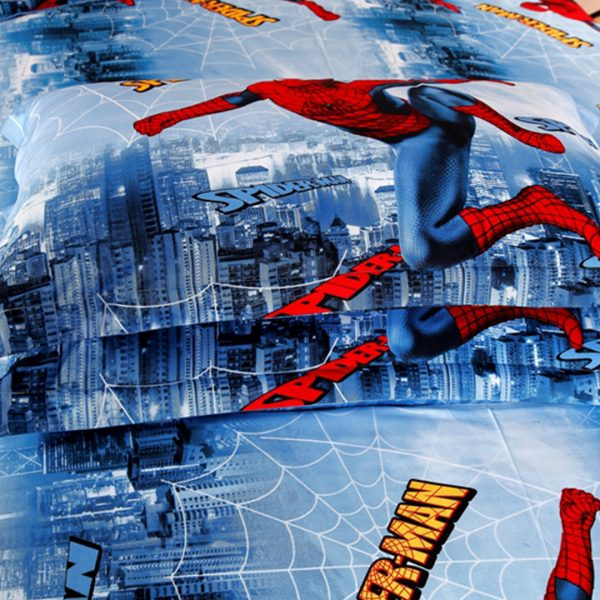 Spiderman pillow case 600x600 - Spiderman bedding set Queen size