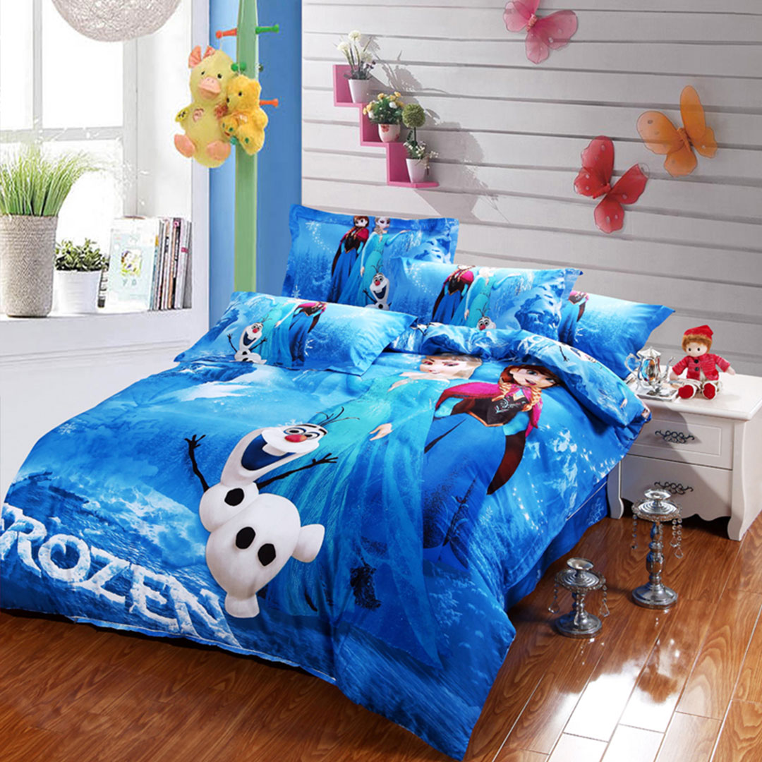 fascinating Mickey Mouse Bedding Set Queen Size Part - 10: Disney Frozen Bedding set blue