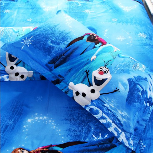 Disney Frozen Bedding set blue pillow case