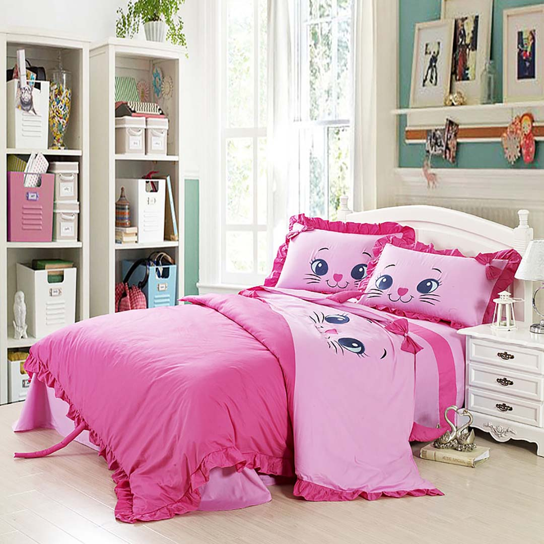 Kids And Baby Kitty Bedding Set