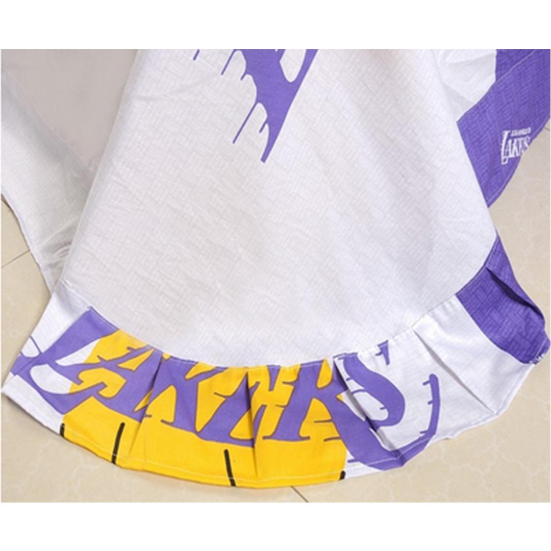 los angeles lakers bedding flat sheet. Los Angeles Lakers Basketball Bedding Set   EBeddingSets