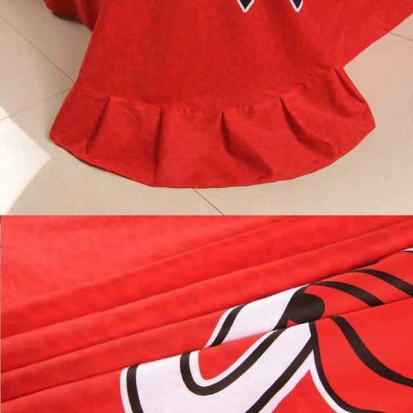 miami heat comforter 600x600 - Miami heat bedding Set 100% Cotton 5pcs