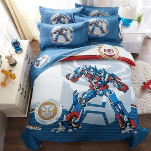 Transformers bedding set 100% Cotton 5pcs