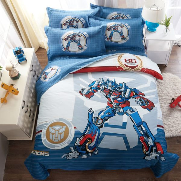 transformers bedding set 1 600x600 - Transformers bedding set 100% Cotton 5pcs