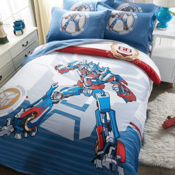 transformers bedding set 3 600x600 - Transformers bedding set 100% Cotton 5pcs