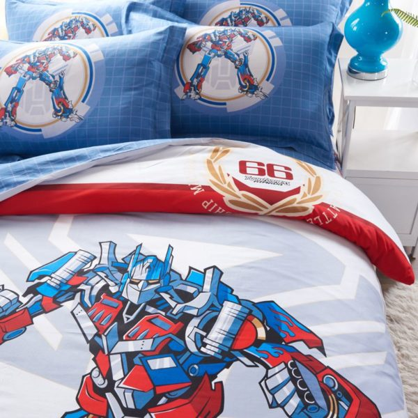 transformers bedding set 4 600x600 - Transformers bedding set 100% Cotton 5pcs