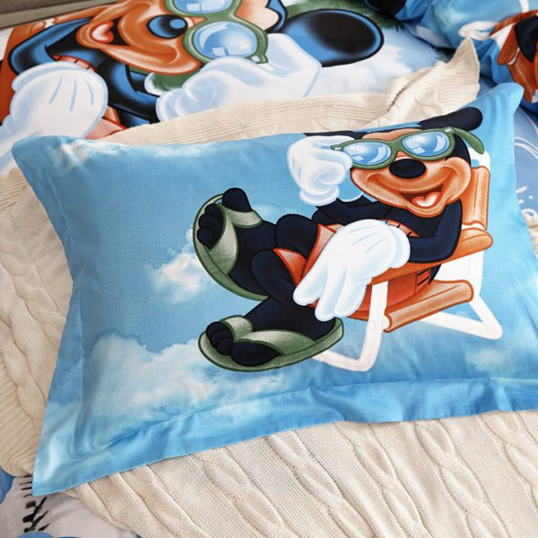Mickey mouse bet set pillow case twin and queen size