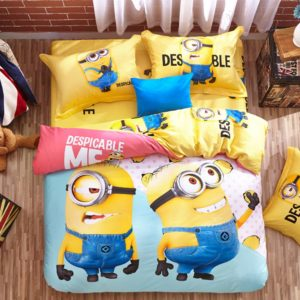 Minion bed set Queen King Twin size (1)
