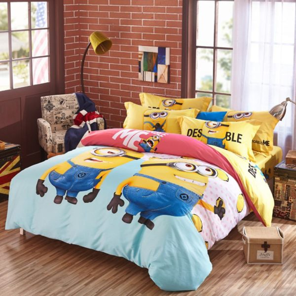Minion bed set Queen King Twin size 3 2 600x600 - Minion Bed Set Queen King Twin Size