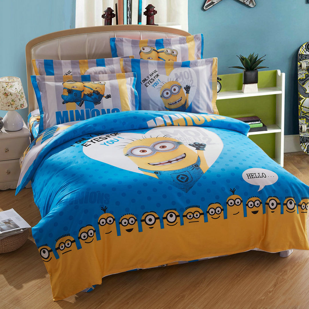minion queen size bed sheets Barebearsbackyardco