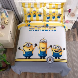 Minions Duvet Cover Set Queen King Size (1)