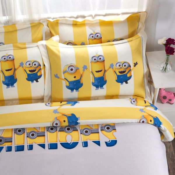 Minions Duvet Cover Set Queen King Size 3 600x600 - Minions Duvet Cover Set Twin Queen King Size