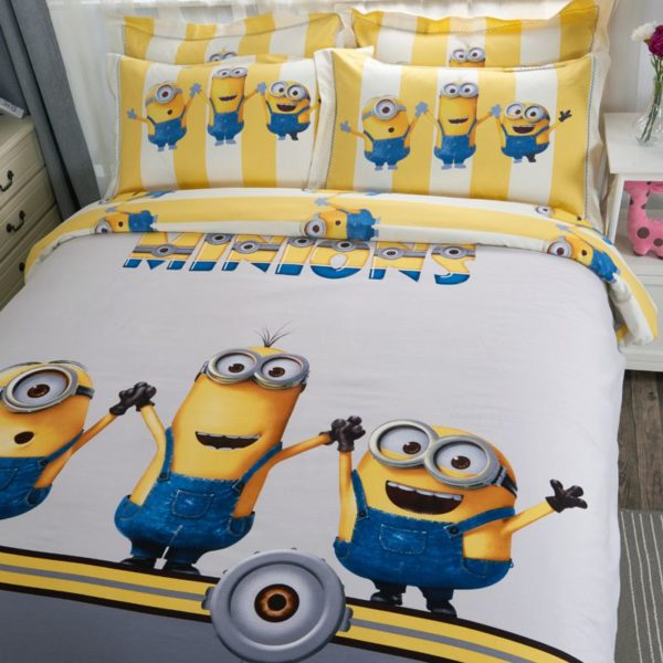 Minions Duvet Cover Set Queen King Size 4 600x600 - Minions Duvet Cover Set Twin Queen King Size