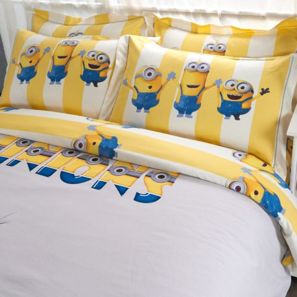 Minions Duvet Cover Set Queen King Size 5 600x600 - Minions Duvet Cover Set Twin Queen King Size