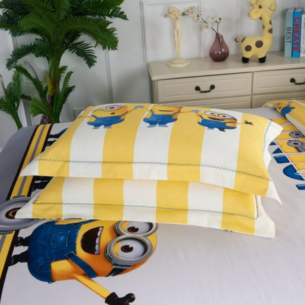 Minions Duvet Cover Set Queen King Size 6 600x600 - Minions Duvet Cover Set Twin Queen King Size