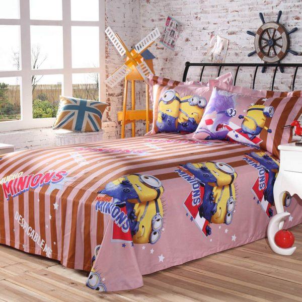 banana nana bedding set flat sheet