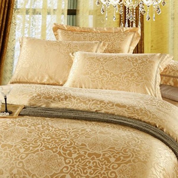 Gold Luxury bed Set