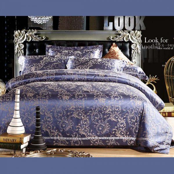 bedding 14 600x600 - Blue Luxury Bedding Set - 100% Cotton