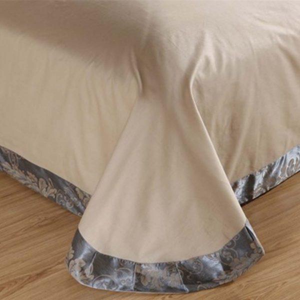 bedding 15 600x600 - Luxury Blue Comforter Bed Set - 5Pcs