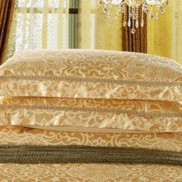 Gold Luxury bedding set pillow cases