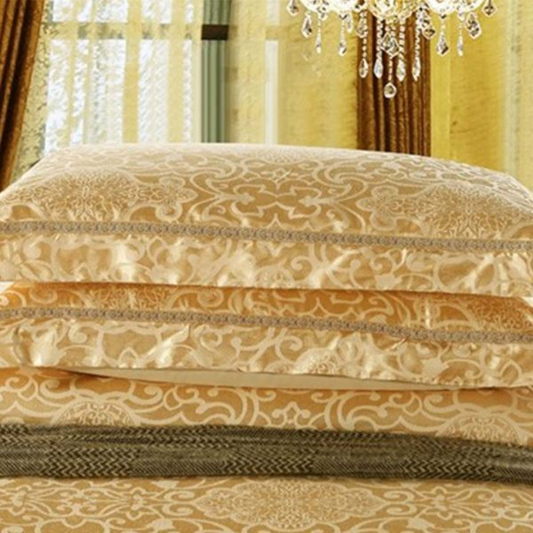 Gold Luxury bedding set pillow cases