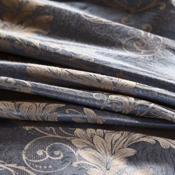 bedding 25 600x600 - Luxury Blue Comforter Bed Set - 5Pcs