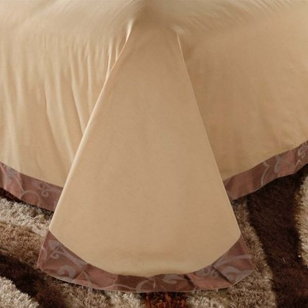 bedding 33 600x600 - Luxury Brown Bedding Set Queen, Full & King Size