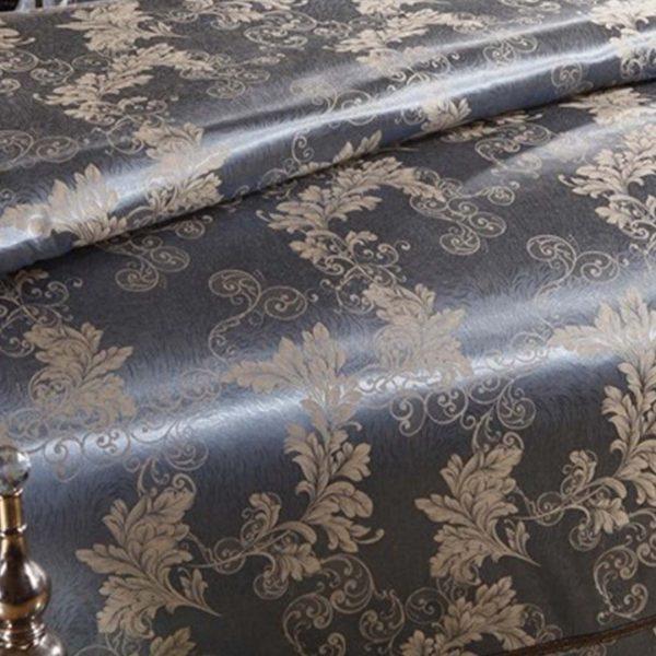bedding 35 600x600 - Luxury Blue Comforter Bed Set - 5Pcs