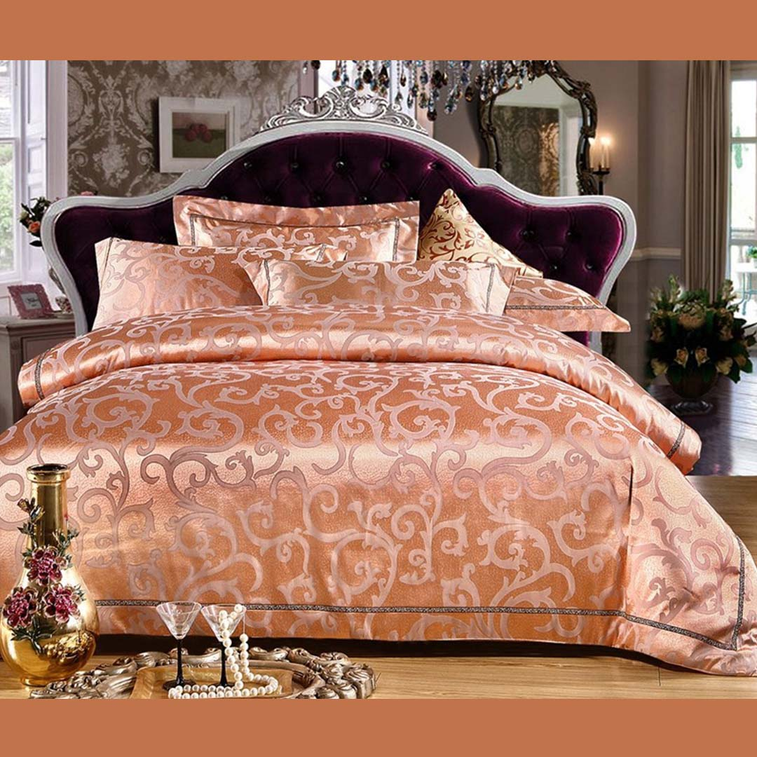 brown wensli golden set bed bedding beddingsets silk