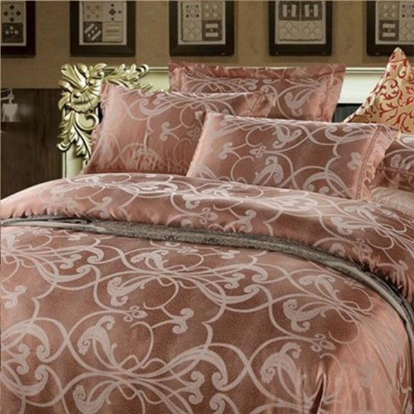 bedding 43 600x600 - Luxury Brown Bedding Set Queen, Full & King Size