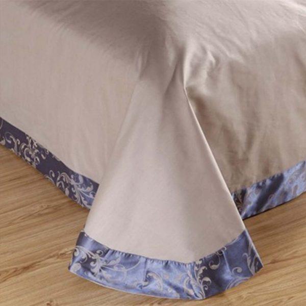 bedding 44 600x600 - Blue Luxury Bedding Set - 100% Cotton