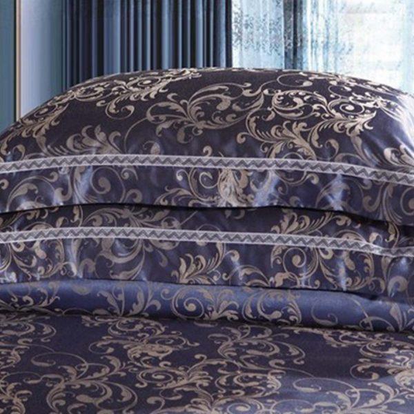 bedding4 600x600 - Blue Luxury Bedding Set - 100% Cotton