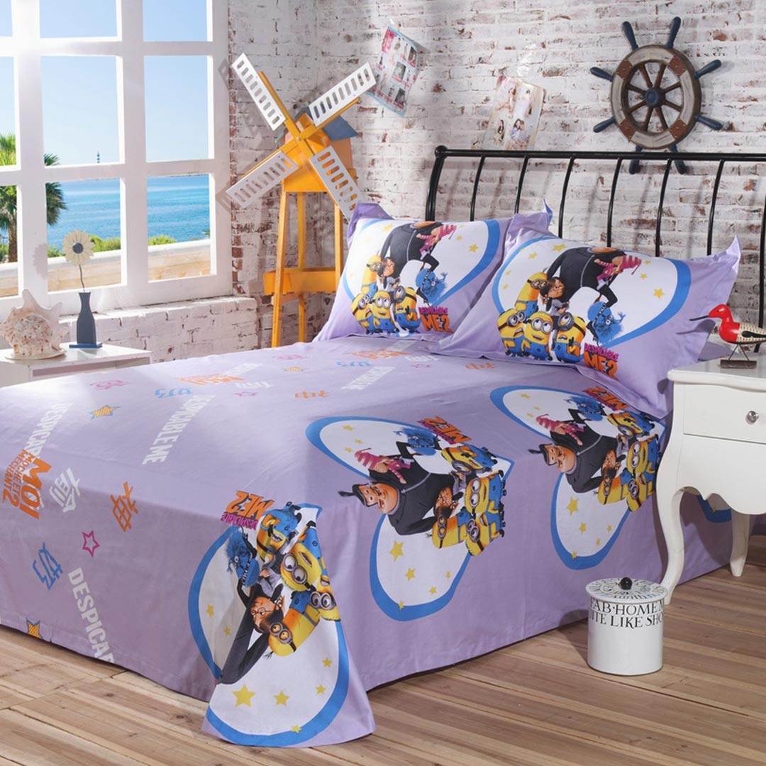 despicable me bed set flat sheet