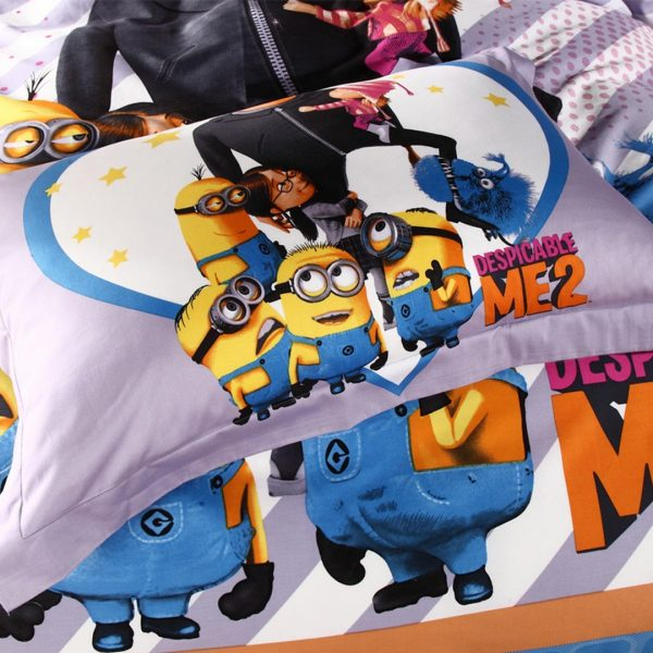 despicable me bed set pillow cases