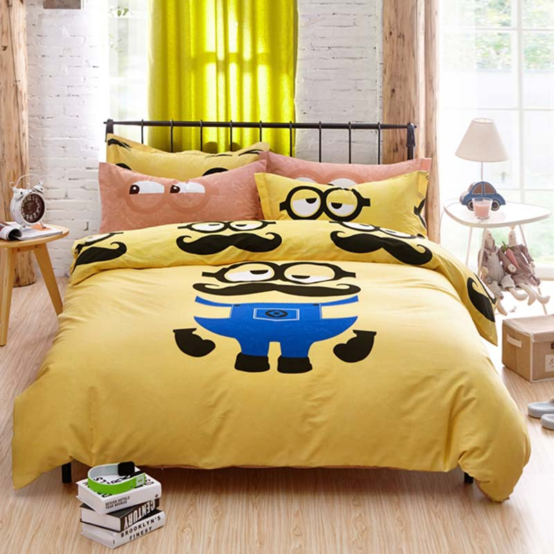 despicable me minion bed set comforter