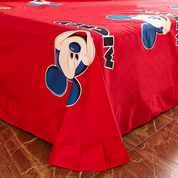 mickey mouse comforter set flat sheet