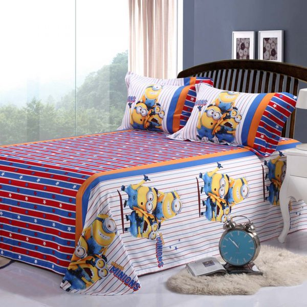 one in a minion bedding set flat sheet