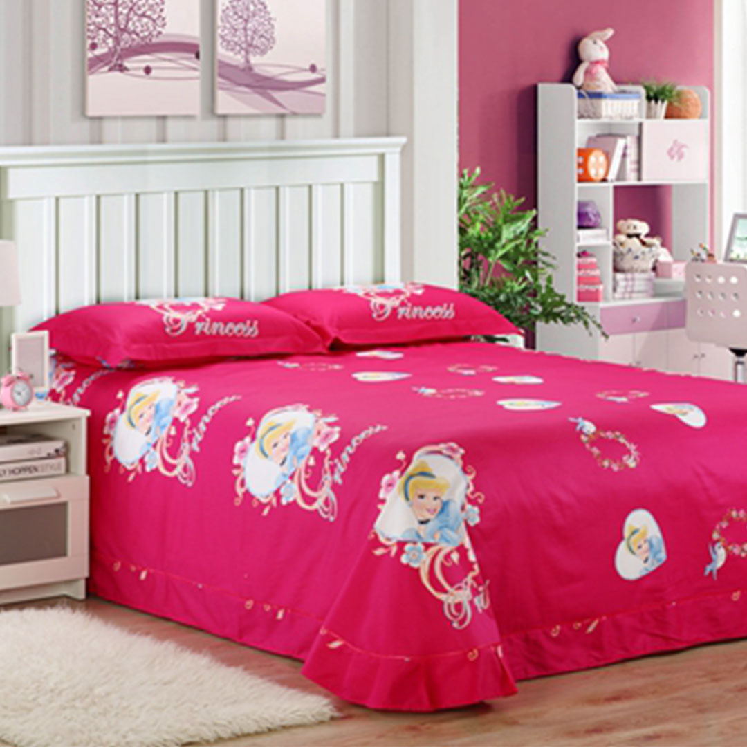 ... Disney princess bedding set queen size flat sheet ...